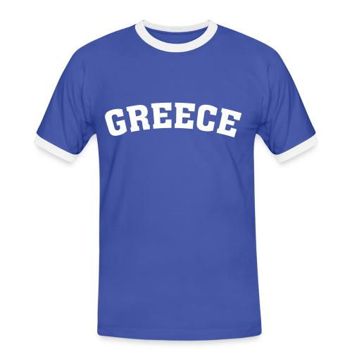 Griechenland - Männer Kontrast-T-Shirt