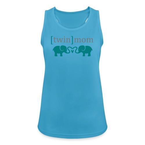 T-Shirt Twinmom/Zwillingsmama - Frauen Tank Top atmungsaktiv