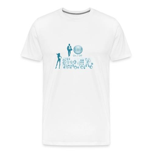 Man and Woman navy blue - Männer Premium T-Shirt