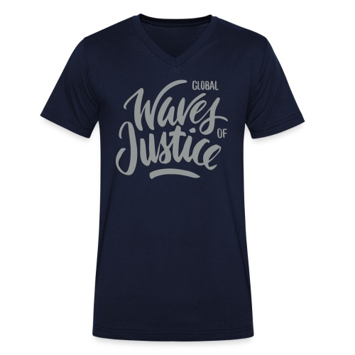 Global Waves of Justice - mannen - Mannen bio T-shirt met V-hals van Stanley & Stella