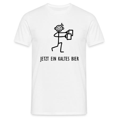 Strichmännchen - Kaltes Bier - Männer T-Shirt