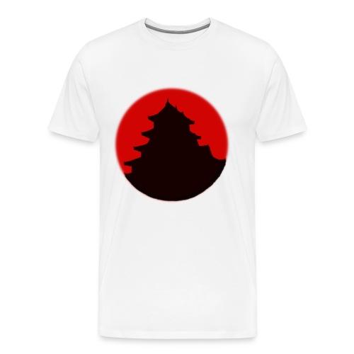 Japan Flag/Temple Shirt - Männer Premium T-Shirt