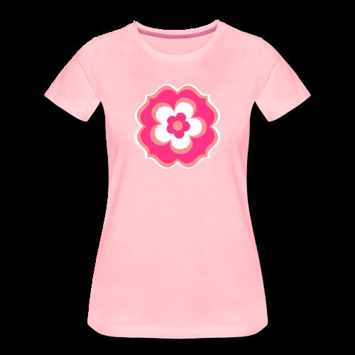 70er Blume - Frauen Premium T-Shirt