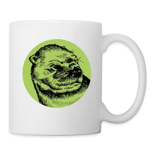 Mug Loutre Vert - Mug blanc
