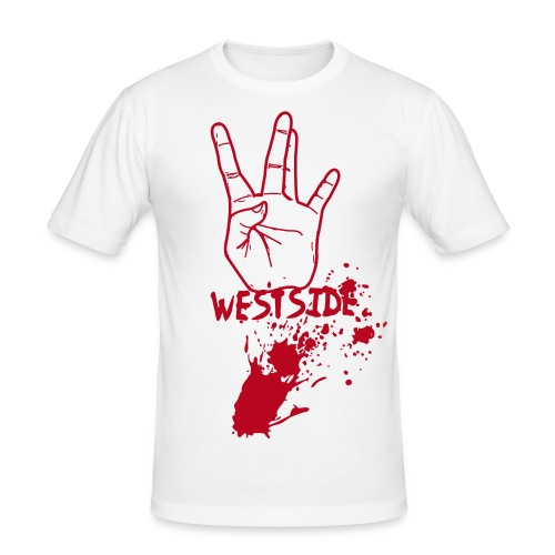 Staywest-White - Slim Fit T-shirt herr