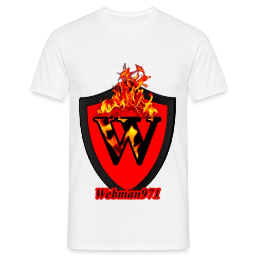 tee-shirt webman971 blanc - Men's T-Shirt