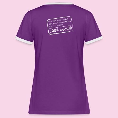 100% scout damen - Frauen Kontrast-T-Shirt