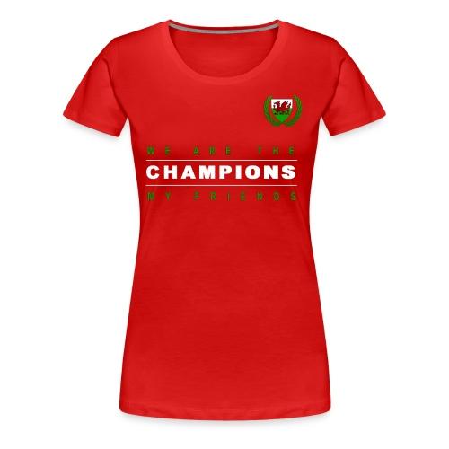 Wales Champions women red - Women's Premium T-Shirt