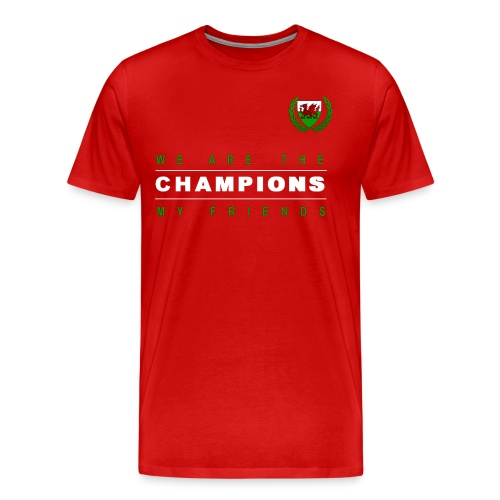 Wales Champions men red - Men's Premium T-Shirt