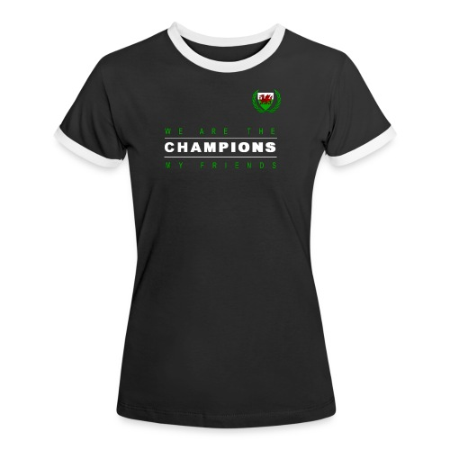 Wales Champions women black - Women's Ringer T-Shirt