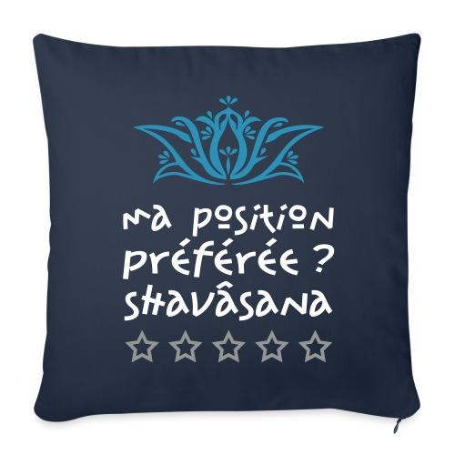 Housse de coussin Position de yoga Shavasana - Sofa pillowcase 17,3'' x 17,3'' (45 x 45 cm)