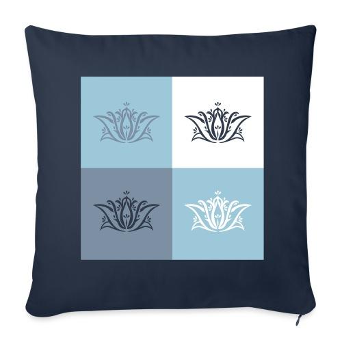 Housse de coussin Déclinaison de fleurs de lotus - Sofa pillowcase 17,3'' x 17,3'' (45 x 45 cm)
