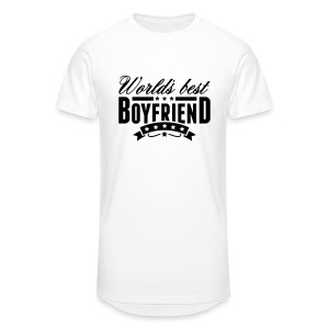 T-Shirt World's Best Boyfriend Blanc Homme - T-shirt long Homme