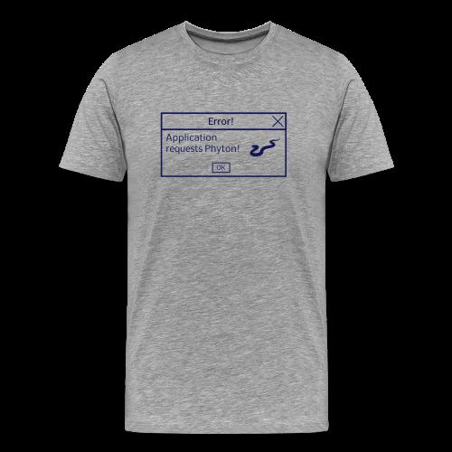Coder Shirt Phyton grau - Männer Premium T-Shirt