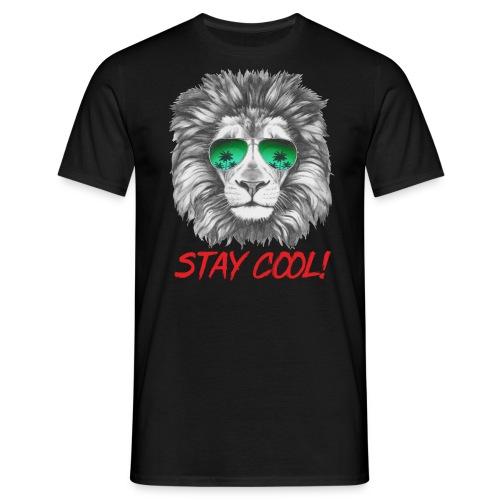 Animal Design Lion Stay Cool - RAHMENLOS Geschenk zum Geburtstag - Männer T-Shirt