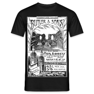 T-Shirts ~ Men's T-Shirt ~ Butler's Old Abbey Whisky, Reading (Front)