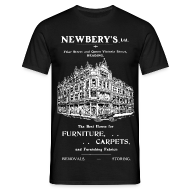 T-Shirts ~ Men's T-Shirt ~ Newbery's Corner, Reading (Front)