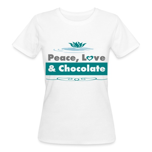 Tee shirt Bio Femme Peace Love and Chocolate - Women's Organic T-Shirt