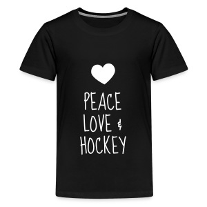 Hockey - Cross - Eishockey - Skater - Ice Hockey T-Shirts - Teenager Premium T-Shirt
