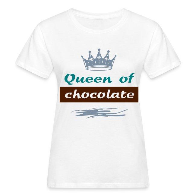 """Tee shirt Bio Femme """"Queen of Chocolate"""""""