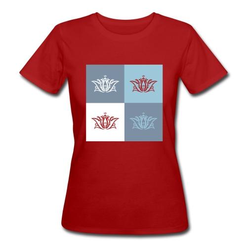 Tee shirt bio pour femmes Déclinaison de fleurs de lotus - Women's Organic T-Shirt