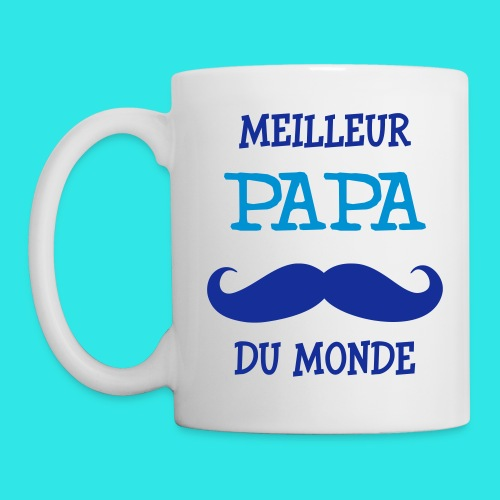 tasse meilleur papa du monde - Mug blanc