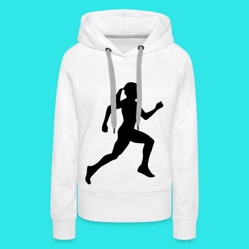 sweat de sport - Sweat-shirt à capuche Premium pour femmes