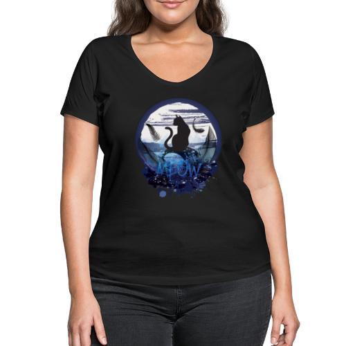 Meow - T-shirt bio col V Stanley & Stella Femme