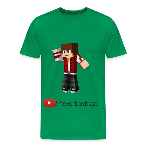 Youtube/Powerboyblast T-Shirt (Mens) - Men's Premium T-Shirt