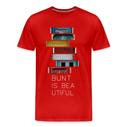 T-Shirt Bunt is Beautiful rot Männer - Männer Premium T-Shirt
