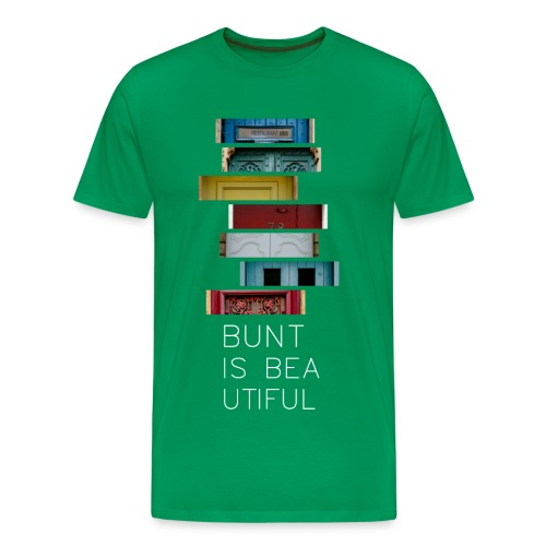 T-Shirt Bunt is Beautiful grün Männer - Männer Premium T-Shirt