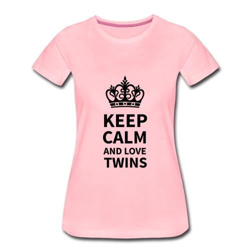 Mama-Shirt: Keep calm and love twins  - Frauen Premium T-Shirt