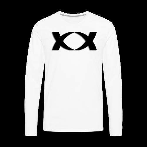 Hantinson Logo LongSleeve(White) - Men's Premium Longsleeve Shirt