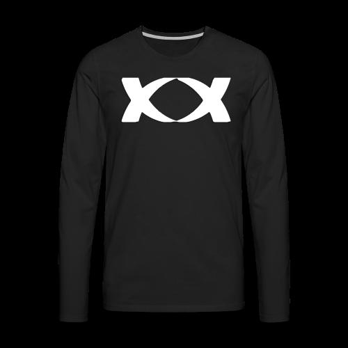 Hantinson Logo LongSleeve(Black) - Men's Premium Longsleeve Shirt