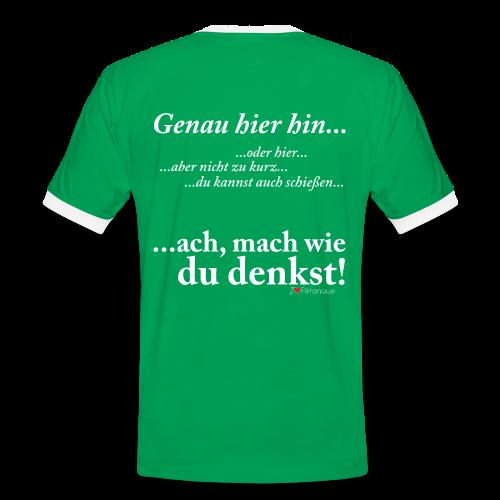 Klugscheißer-Shirt Mach was du denkst Herren T-Shirt - Männer Kontrast-T-Shirt