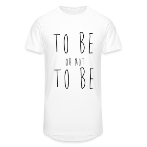 T-Shirt To Be Or Not To Be Blanc Homme - T-shirt long Homme