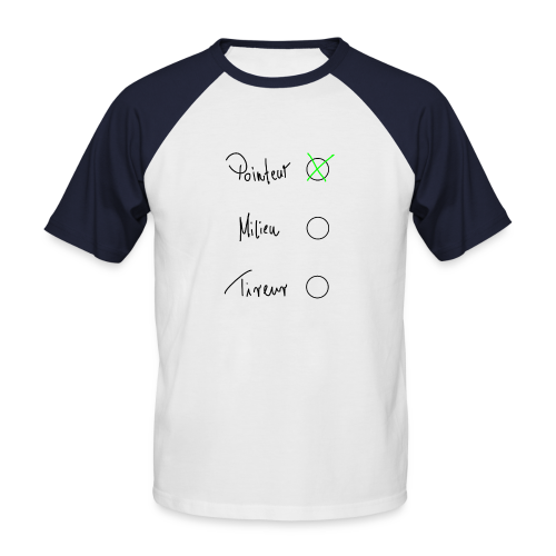 Pointeur Herren T-Shirt - Männer Baseball-T-Shirt