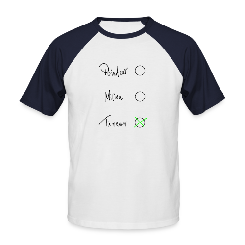 Tireur Herren T-Shirt - Männer Baseball-T-Shirt