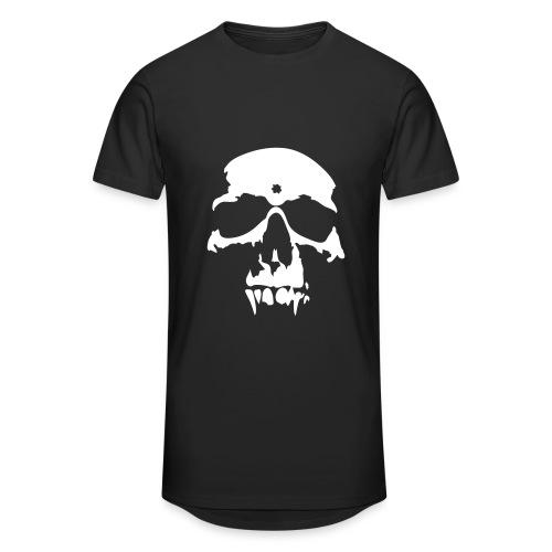 T-Shirt Skull Tête De Mort Noir Homme - T-shirt long Homme