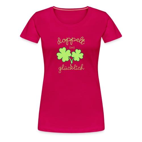 Zwillingsmama: Doppelt so glücklich  - Frauen Premium T-Shirt