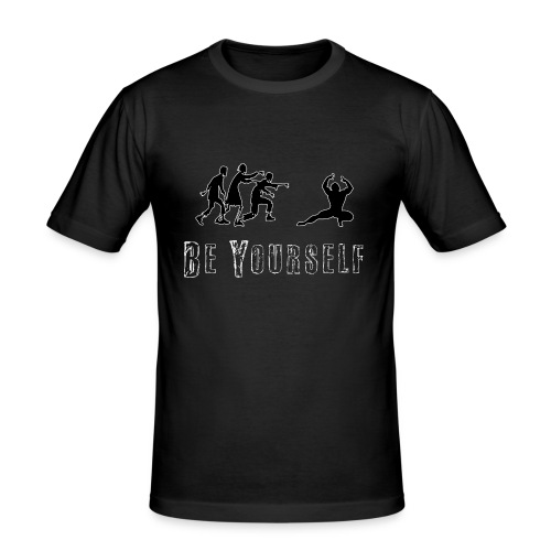 Zombie Vs Bodybuilder - T-shirt près du corps Homme
