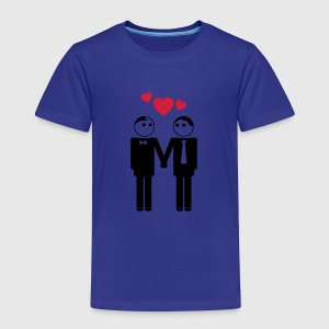 gay couple / couple in love hearts 2c Shirts - Kids' Premium T-Shirt