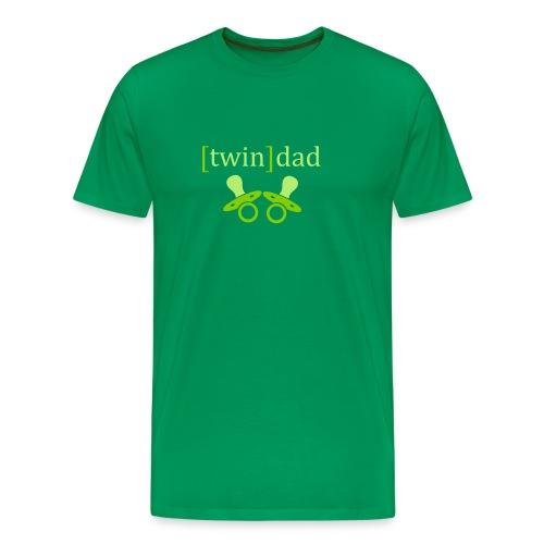 Zwillingspapa: T-Shirt bis 5XL  - Männer Premium T-Shirt