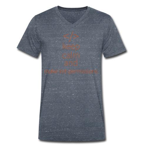 make init-permissions - Männer Bio-T-Shirt mit V-Ausschnitt von Stanley & Stella