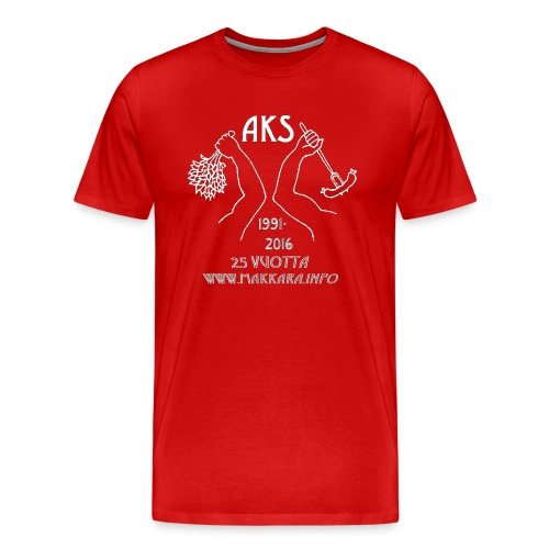 AKS 25 vuotta - Miesten premium t-paita