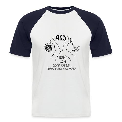 AKS 25 vuotta - Miesten lyhythihainen baseballpaita