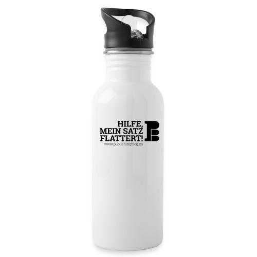 Trinkflasche «HILFE, MEIN SATZ FLATTERT!» - Trinkflasche