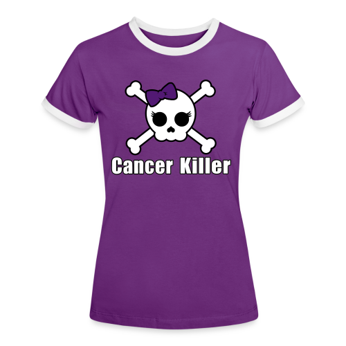 Cancer Killer Shirt 2-farbig - Flexdruck - Frauen Kontrast-T-Shirt