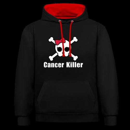 Cancer Killer Kapuzenpullover 2-farbig - Kontrast-Hoodie