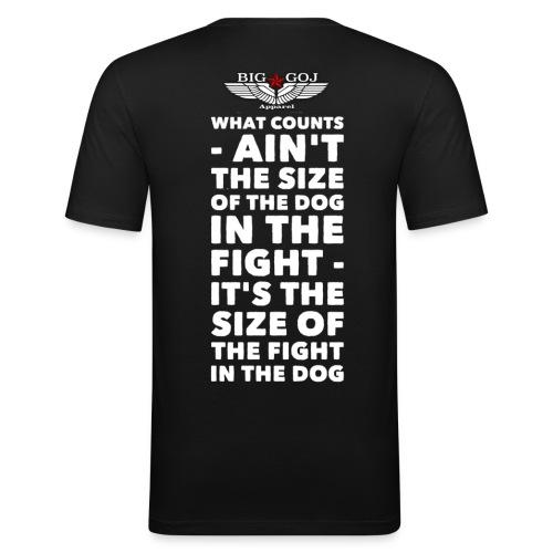 'The size of the Dog' BIG GOJ Black Men's close fitting T-Shirt - Men's Slim Fit T-Shirt